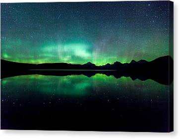 Canvas Print featuring the photograph Iss Aurora by Aaron Aldrich