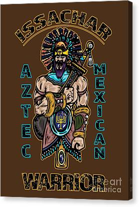 Issachar Aztec Warrior Tsd Canvas Print