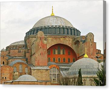 Canvas Print featuring the photograph Istanbul Dome by Munir Alawi