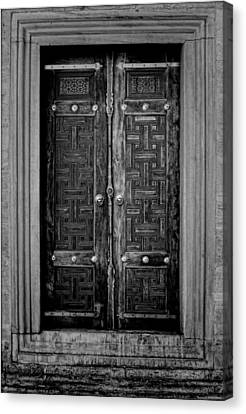 Medieval Entrance Canvas Print - Istanbul Door by Stephen Stookey