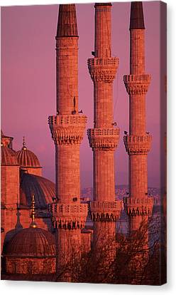 Istanbul, Turkey, Blue Mosque Canvas Print by Grant Faint