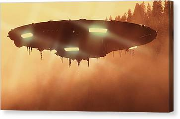 It Comes In The Mist By Raphael Terra Canvas Print