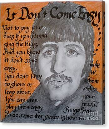 It Don't Come Easy-ringo Starr Canvas Print by Teresa Marie Staal-Cowley