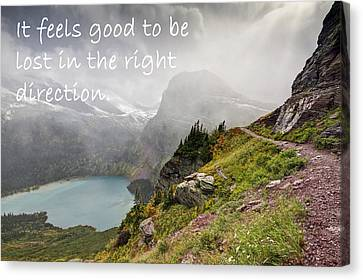 Ledge Canvas Print - It Feels Good To Be Lost In The Right Direction - Montana by Mark Kiver