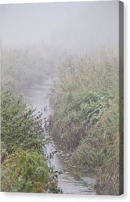 It Flows From The Mist Canvas Print by Odd Jeppesen