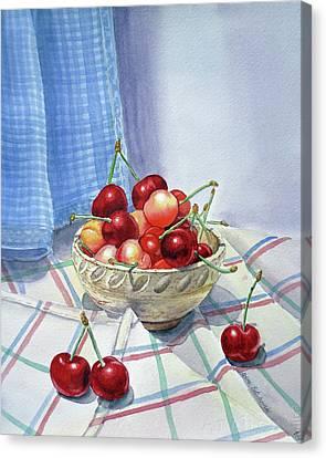 It Is Raining Cherries Canvas Print