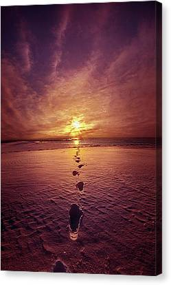 Canvas Print featuring the photograph It Is Then That I Carried You by Phil Koch