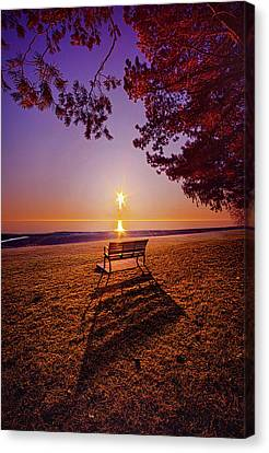 Canvas Print featuring the photograph It Is Words With You I Seek by Phil Koch
