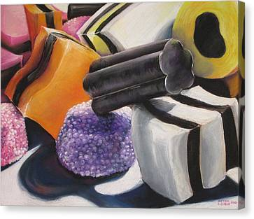 Licorice Canvas Print - It Takes All Sorts by Outre Art  Natalie Eisen