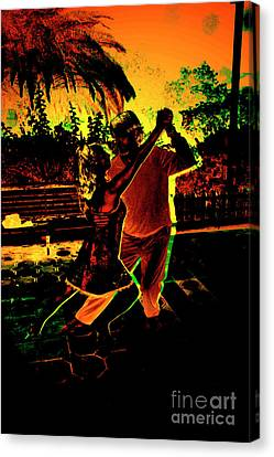 Canvas Print featuring the photograph It Takes Two To Tango by Al Bourassa