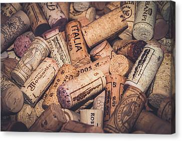 Stopper Canvas Print - Italia - Corks by Colleen Kammerer
