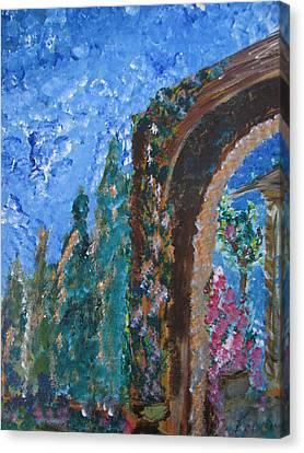 Italian Arch Canvas Print by Dennis Poyant