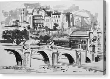 Italian Bridge Canvas Print by John Keaton