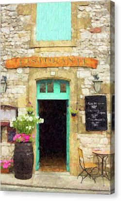 Italian Cafe Canvas Print