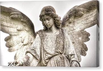 Italian Cemetery Angel Canvas Print by Gia Marie Houck