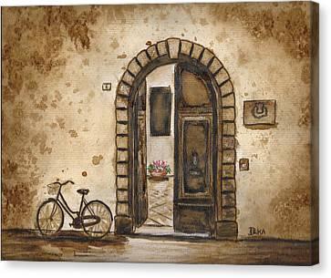 Italian Coffee Break Canvas Print by Dianne  Ilka
