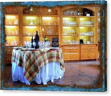 Vino Canvas Print - Italian Country Kitchen by Donna Blackhall
