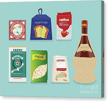 Grocery Store Canvas Print - Italian Deli by Claire Huntley