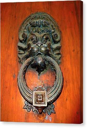 Italian Door Knocker Canvas Print by Jen White