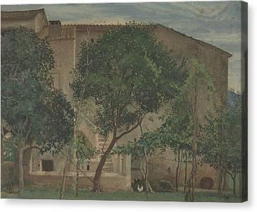 Italian Landscape Canvas Print - Italian Farmhouse by Walter Crane