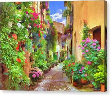 Italian Flowers Canvas Print