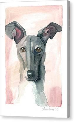 Greyhound Canvas Print - Italian Greyhound by Mike Lawrence