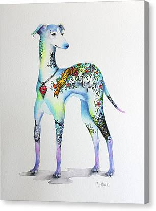 Italian Greyhound Tattoo Dog Canvas Print