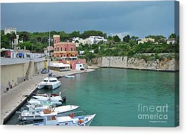 Italian Harbor - Puglia Canvas Print by Italian Art