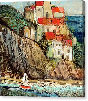 Italian Hill Town Canvas Print by Jen Norton