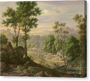 Italian Landscape Canvas Print by Joachim Faber