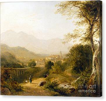 Italian Landscape Canvas Print by Joseph William Allen