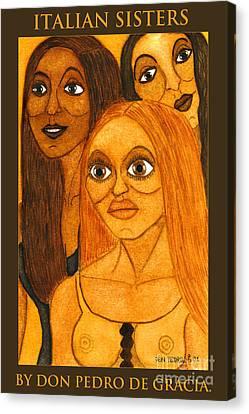 Italian Sisters Canvas Print by Don Pedro De Gracia