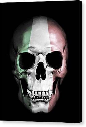 Canvas Print featuring the digital art Italian Skull by Nicklas Gustafsson