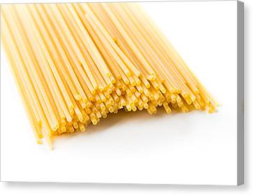 Italian Spaghetti Extruded Through Bronze  Canvas Print by Alain De Maximy