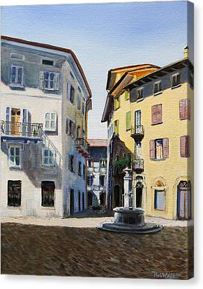 Scenes Of Italy Canvas Print - Italian Street by Paul Walsh