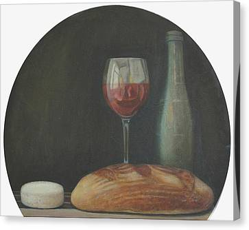 Malbec Canvas Print - Italian Style Wine by Mark Manning