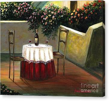 Italian Table Canvas Print by Italian Art