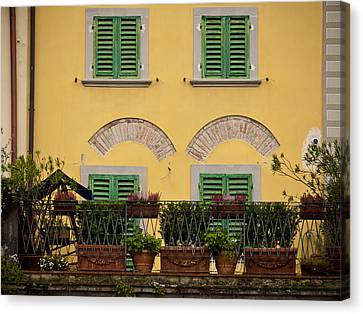 Italian Terrace Canvas Print
