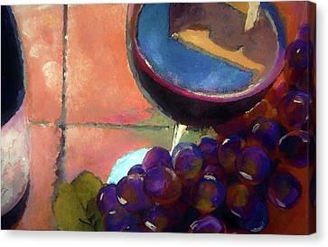 Italian Tile And Fine Wine Canvas Print