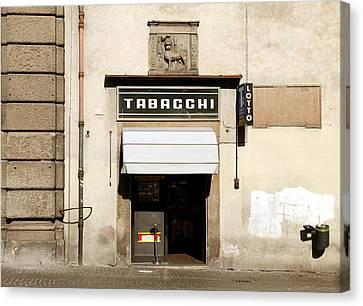 Italian Tobacconist Canvas Print by Valentino Visentini