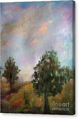 Alberi Canvas Print - Italian Trees by Rosalia  Tignini Verdun