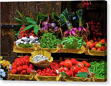 Canvas Print featuring the photograph Italian Vegetables  by Harry Spitz