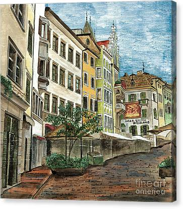 Town Canvas Print - Italian Village 1 by Debbie DeWitt