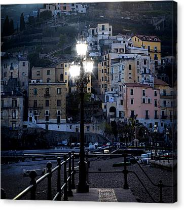 Italian Village In The Evening Canvas Print by Joana Kruse