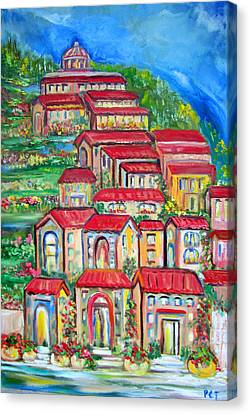 Patricia Taylor Canvas Print - Italian Village On A Hill by Patricia Taylor