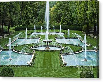 Italian Water Garden Canvas Print