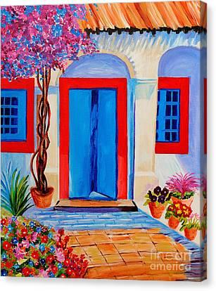 Italien Door Canvas Print by Art by Danielle