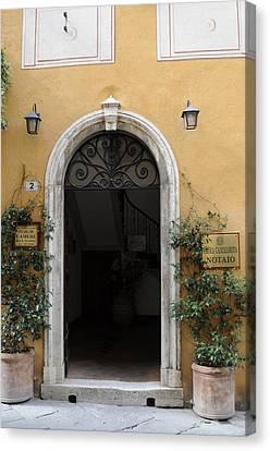 Italy - Door Thirteen Canvas Print