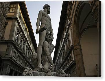 Italy, Florence, Sculpture Of Gercules Canvas Print by Sisse Brimberg & Cotton Coulson