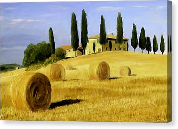 Italy In Fall Canvas Print by Scott Melby